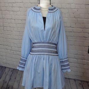 Acer smock dress blue